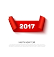 Happy New 2017 Year paper roll banner with vector image vector image