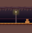 haunted dungeon game background vector image
