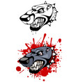 head of evil dog vector image vector image