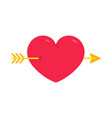 heart with arrow valentines day love symbol vector image