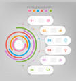 infographic circle element flat design vector image vector image
