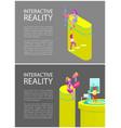 interactive reality tennis set vector image vector image