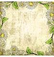 Leaf Grunge Vintage Floral Frame Background vector image vector image