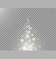 magic particles flying up glitter and glowing vector image vector image