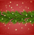 merry christmas and happy new year christmas tree vector image vector image