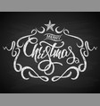 merry christmas greeting card with chalk drawn vector image vector image