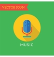 Microphone Icon Icon Sound tools or Dj vector image vector image