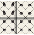 minimal animal seamless patterns vector image
