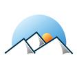 Mountain logo 3 vector image vector image