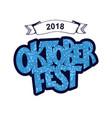 oktoberfest logotype beer festival banner vector image