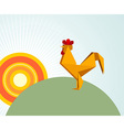 Origami rooster vector image vector image