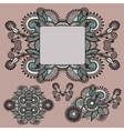 ornamental floral adornment vector image