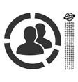patient diagram icon with job bonus vector image vector image