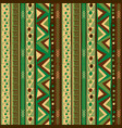pattern with vertical ethnic motifs vector image vector image