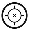 pistol gun aim icon simple style vector image