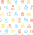 present gift signs seamless pattern background vector image