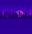 retro futuristic city in style 80s vector image vector image