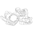 roller skating protective gear vector image vector image