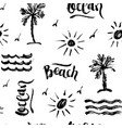 seamless abstract summer brush pattern vector image vector image