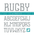 Serif font medium in the sport style vector image vector image