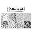 set hand drawn backgrounds black and white vector image
