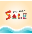 Summer sale flat lay banner vector image vector image