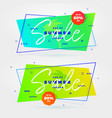 summer sale flat retro banners vector image