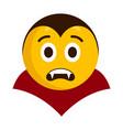 surprised vampire emoji icon vector image vector image