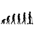 theory evolution of human from monkey to man on vector image vector image