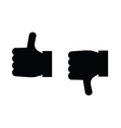thumbs up and thumbs down icon vector image