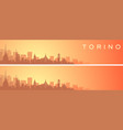 turin beautiful skyline scenery banner vector image vector image
