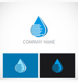 water drop line technology logo vector image vector image