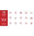 15 emblem icons vector image vector image