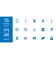 15 grain icons vector image vector image