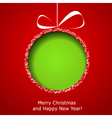 Abstract green Christmas ball vector image vector image