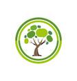 abstract social tree logo icon vector image vector image