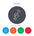 Antenna icon Sputnik satellite sign vector image vector image