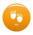 bear step icon orange vector image