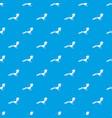 bird pattern seamless blue vector image vector image