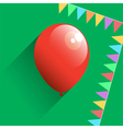 Birthday air balloon icon vector image