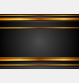 black and bronze abstract tech background with vector image vector image