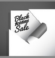 black friday sale text uncovered from teared vector image vector image