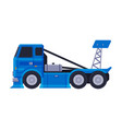 blue fast truck heavy vehicle freight machine vector image vector image