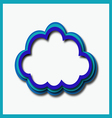 blue web cloud vector image