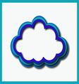blue web cloud vector image vector image