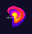 bright abstract object with dynamic waves vector image vector image