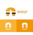 burger and arrow up logo combination vector image