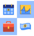 business and investment icon set in flat style vector image vector image