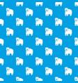canadian bear pattern seamless blue vector image