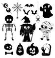 cartoon characters for halloween vector image vector image